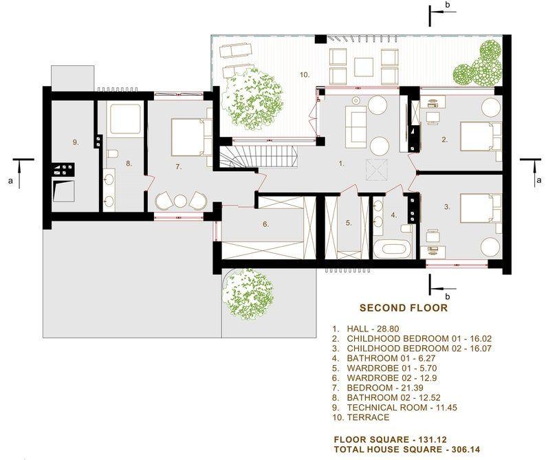 Modern House Plan Building Plans Blueprints Material List Etsy In 2021 Modern House Plan Modern House House Plans