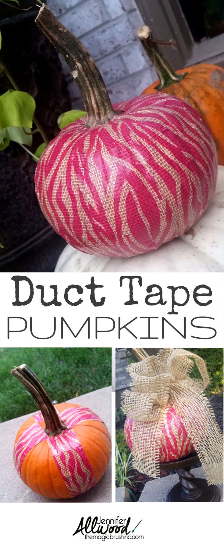 Duct Tape a pumpkin for a fun fall & Halloween decoration! more ...