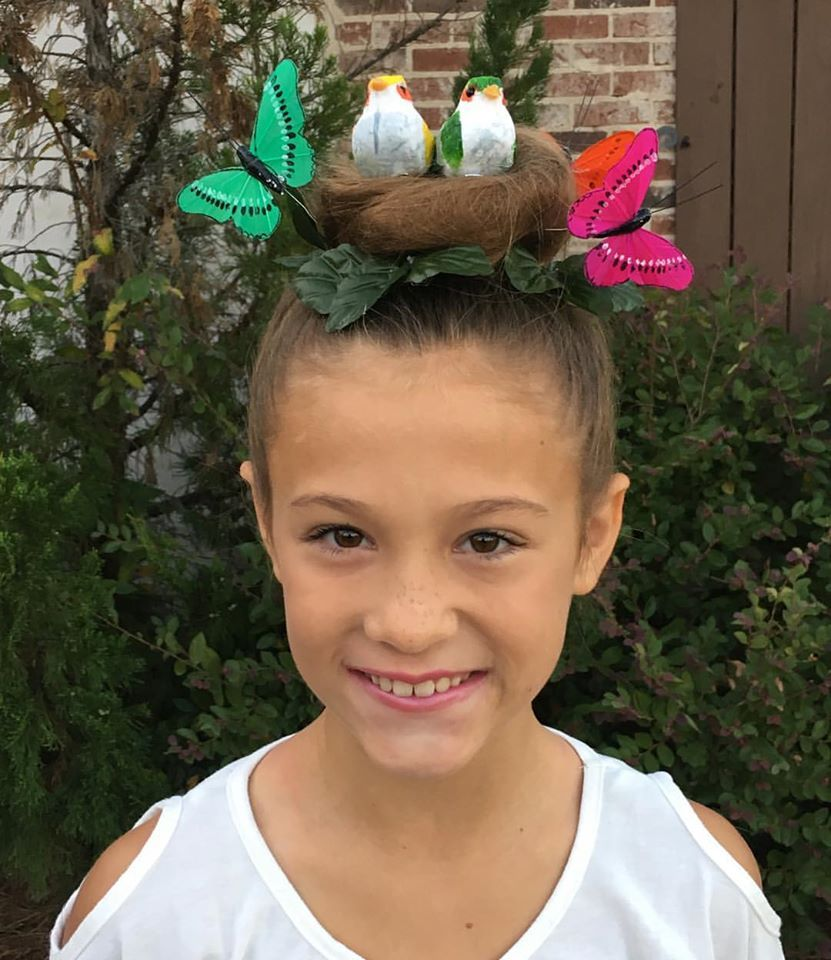 bird's nest for crazy hair day | kids ideas in 2019 | crazy