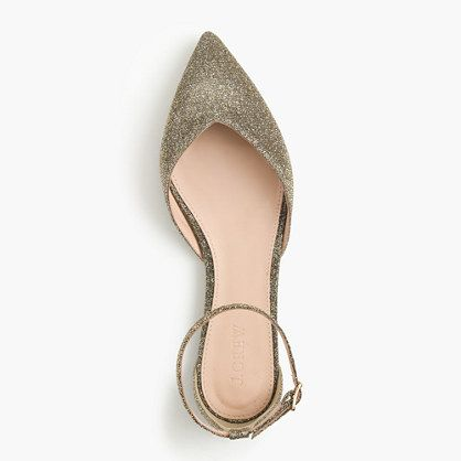 19f6101e19e4 SADIE ANKLE-STRAP FLATS IN GLITTER | For the Feet | Ankle strap ...