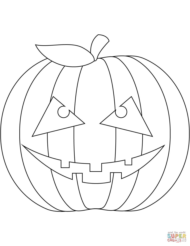 Scary Pumpkin Face | Super Coloring | Scary pumpkin faces ...