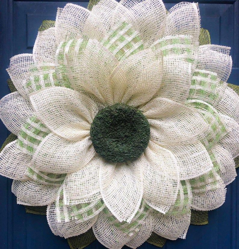Photo of Sunflower wreath for front door, sunflower wreath, alternative wreath, front door decor, summer wreath