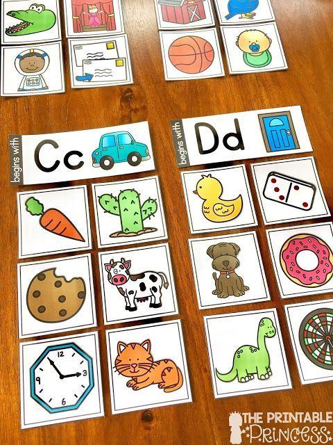 Beginning Sounds Aktivitäten, Spiele und Zentren für den Kindergarten – Wendy Frank