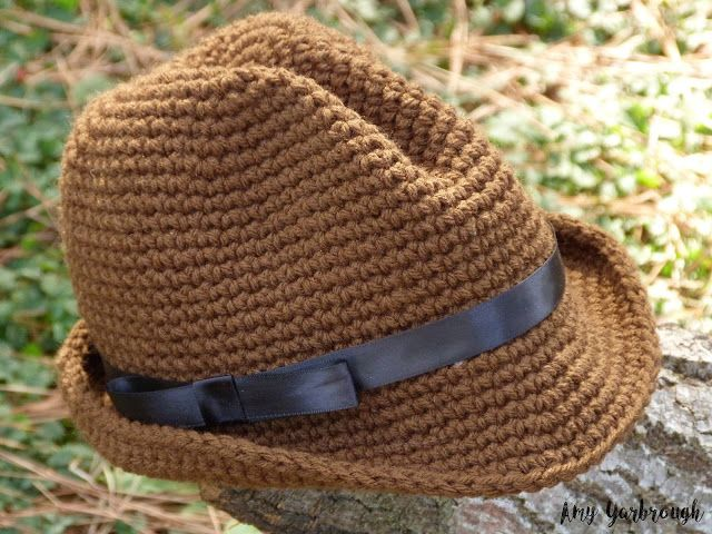 Snappy Fedora (3 Sizes) | Free Crochet Pattern - Ginger Peachy ...