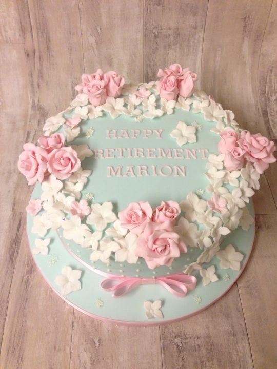 Floral Retirement Cake Retirement Party Cakes Retirement