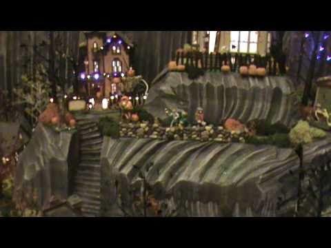 HUGE Dept 56 Halloween Village Display