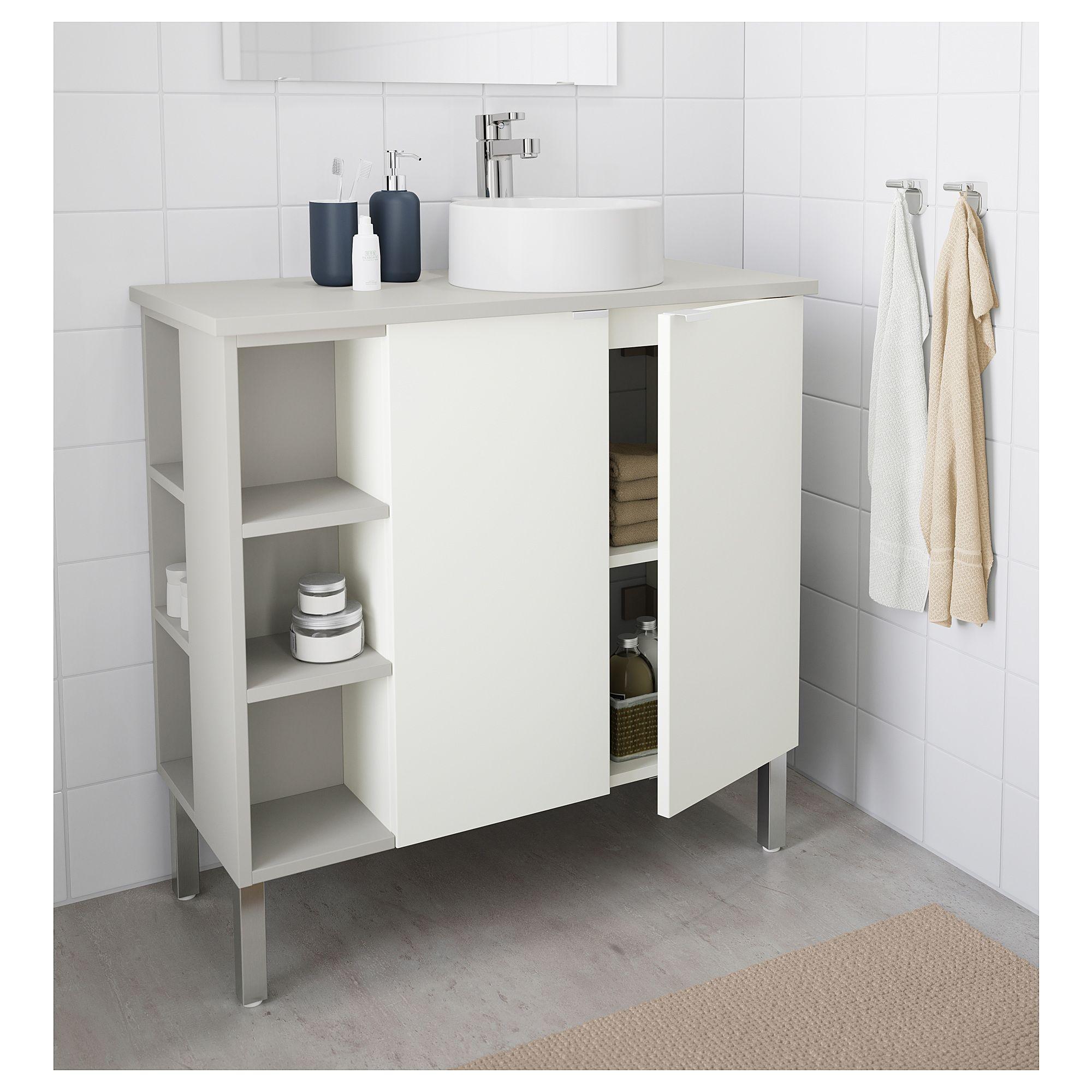 IKEA - LILLÅNGEN/VISKAN / GUTVIKEN Sink cabinet/2 doors/2 end units ...