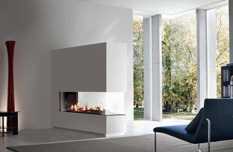 Gas Fireplace Contemporary Closed Hearth Built In Venezia