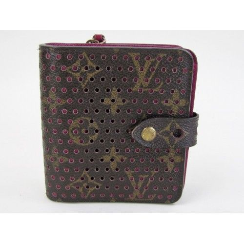 LIMITED ED! Louis Vuitton Monogram Pink Perforated Limited Edition Compact Zippy Wallet- $549 #MoshPosh #LouisVuitton