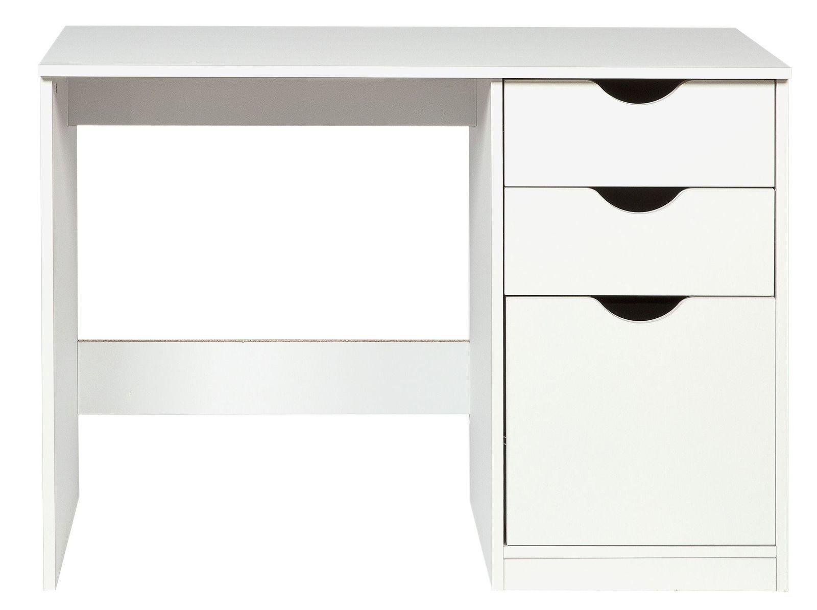 White Childrens Desk Study Table 3 Drawers Storage Shelves