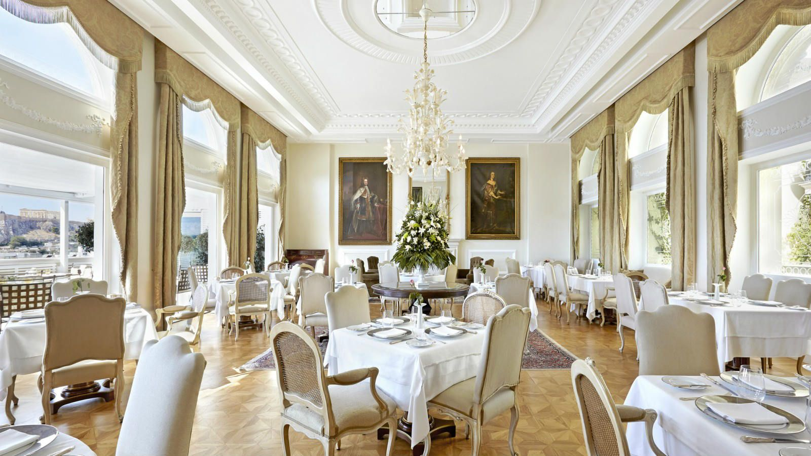 restaurant at hotel king george ll athens greece