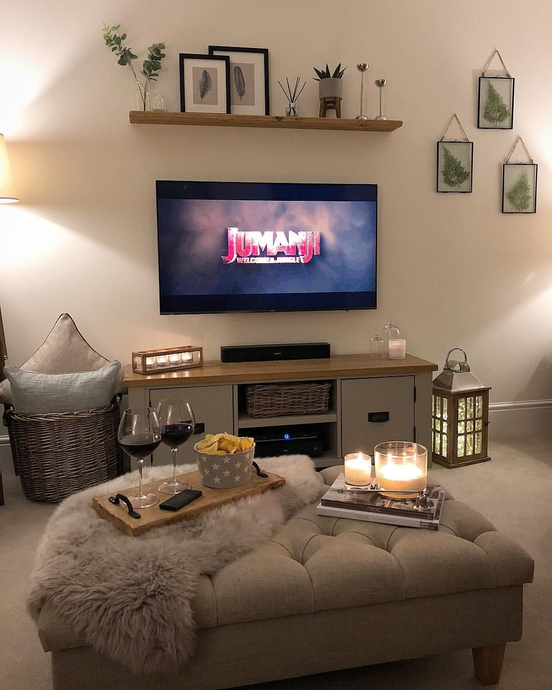 "Claire on Instagram: ""Cosy Sunday night in with red wine, snacks, candlelight and my current favourite film!👌🏼 If you haven't seen the new Jumanji film then you…"""