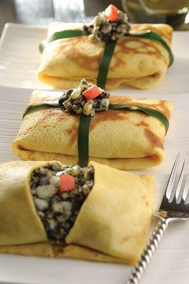 Receta De Sobrecitos De Crepa Rellenos De Huitlacoche Cocina Con Alegría Receta Comida Recetas De Comida Recetas Mexicanas