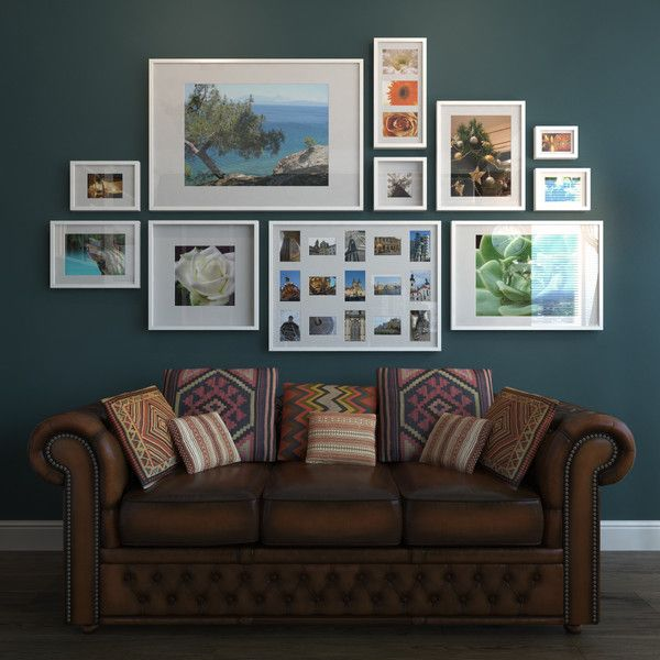 photo arrangement w ikea ribba frames