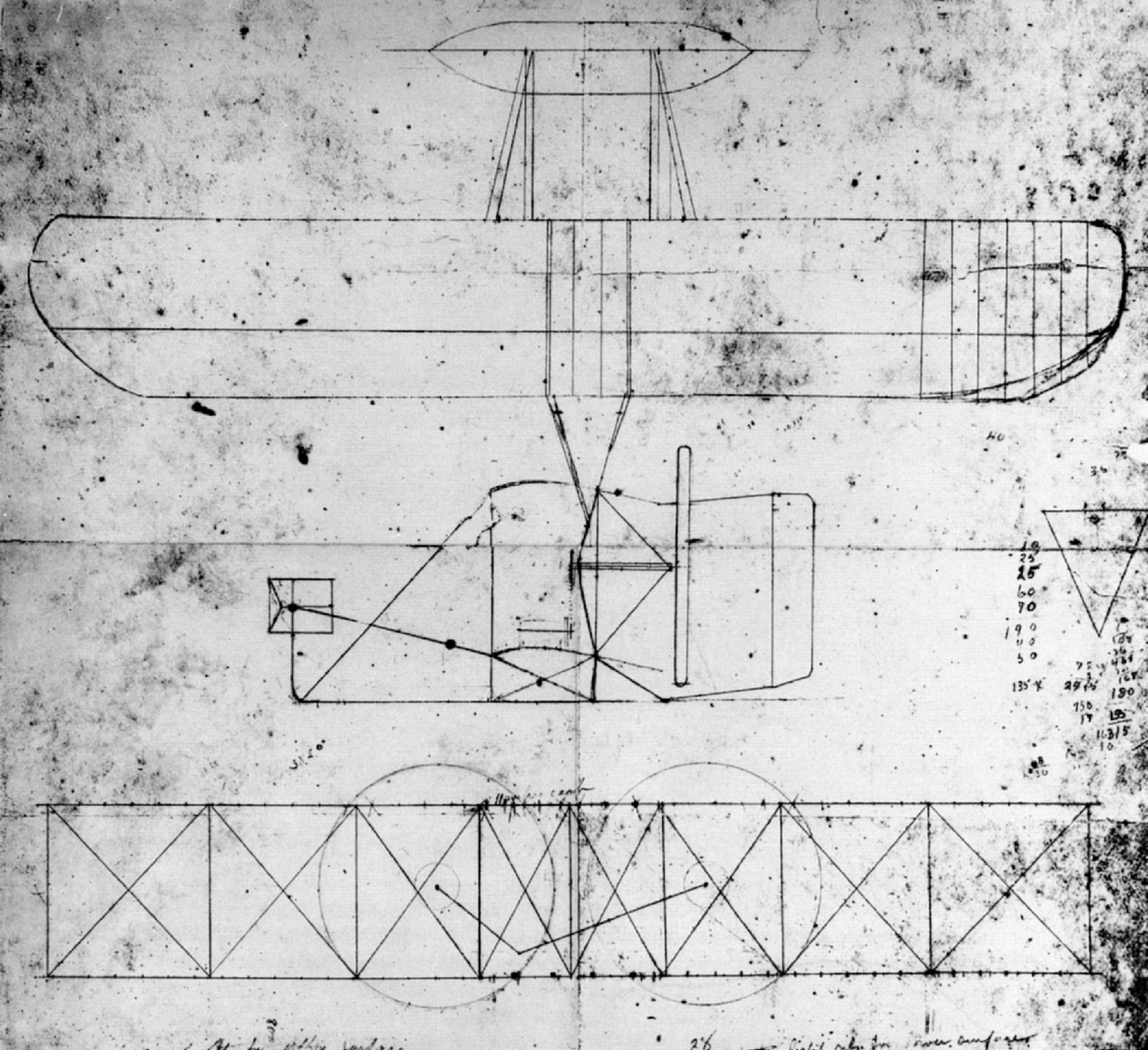 Wright brothers original drawing 1903 flyer google search could we cover the walls with either the blueprints or patent applications of inventions wright brothers sketch of the flyer 1903 malvernweather Images