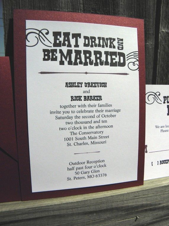 Eat, Drink & Be Married!