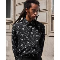 The Kooples - Black floral print classic collar shirt - Damenthekooples.com #longlayeredhaircuts