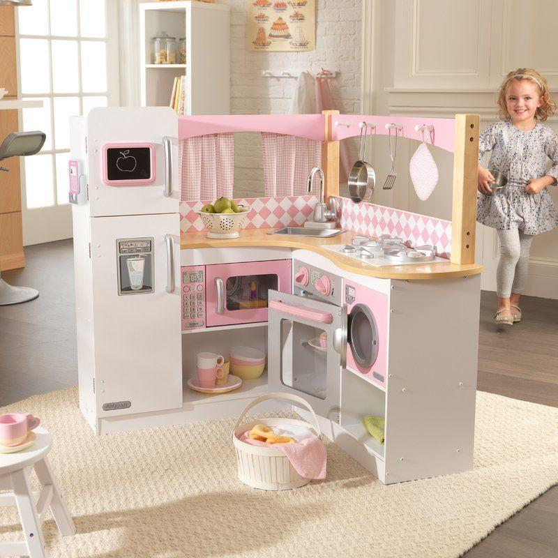 Grand Gourmet Corner Kitchen Set | Kids play kitchen, Kids ...