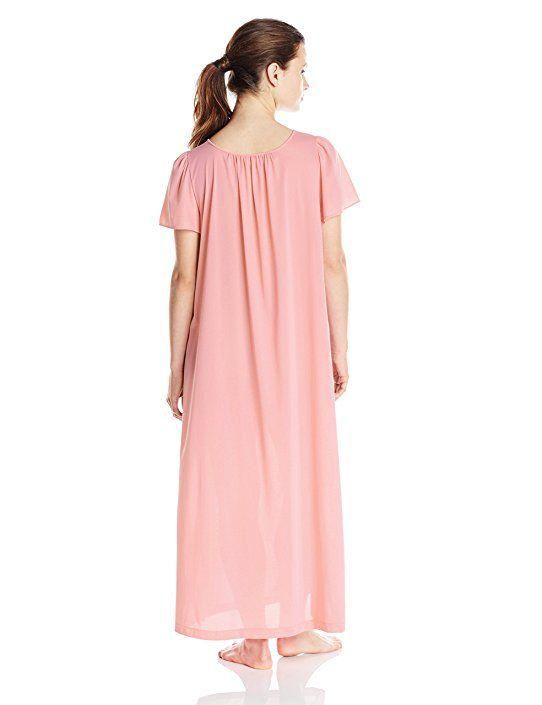 Shadowline Women\'s Petals 53 Inch Short Flutter Sleeve Long Gown at ...