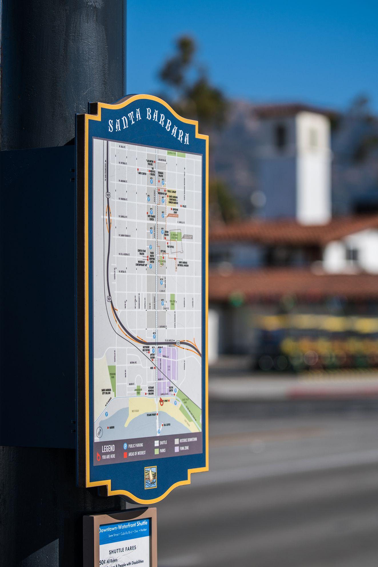 Santa Barbara Wayfinding Hunt Design Pedestrian