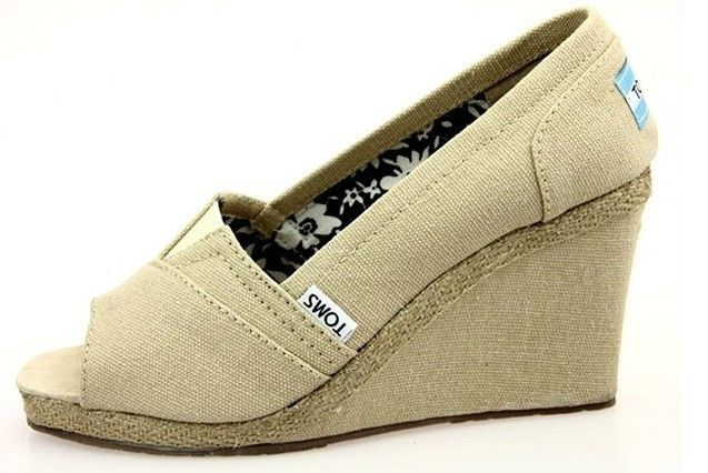 Toms Womens Wedges Shoes Beige $32.95