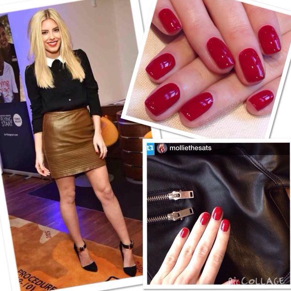 "Mollie from the Saturdays rocking the classic Jessica ""Merlot"" also available in GELeration at the Salon for £20.00"