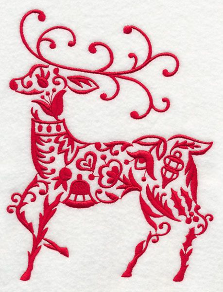 Machine Embroidery Designs At Embroidery Library Scandinavian Christmas Reindeer Scandinavian Embroidery Christmas Designs Christmas Embroidery