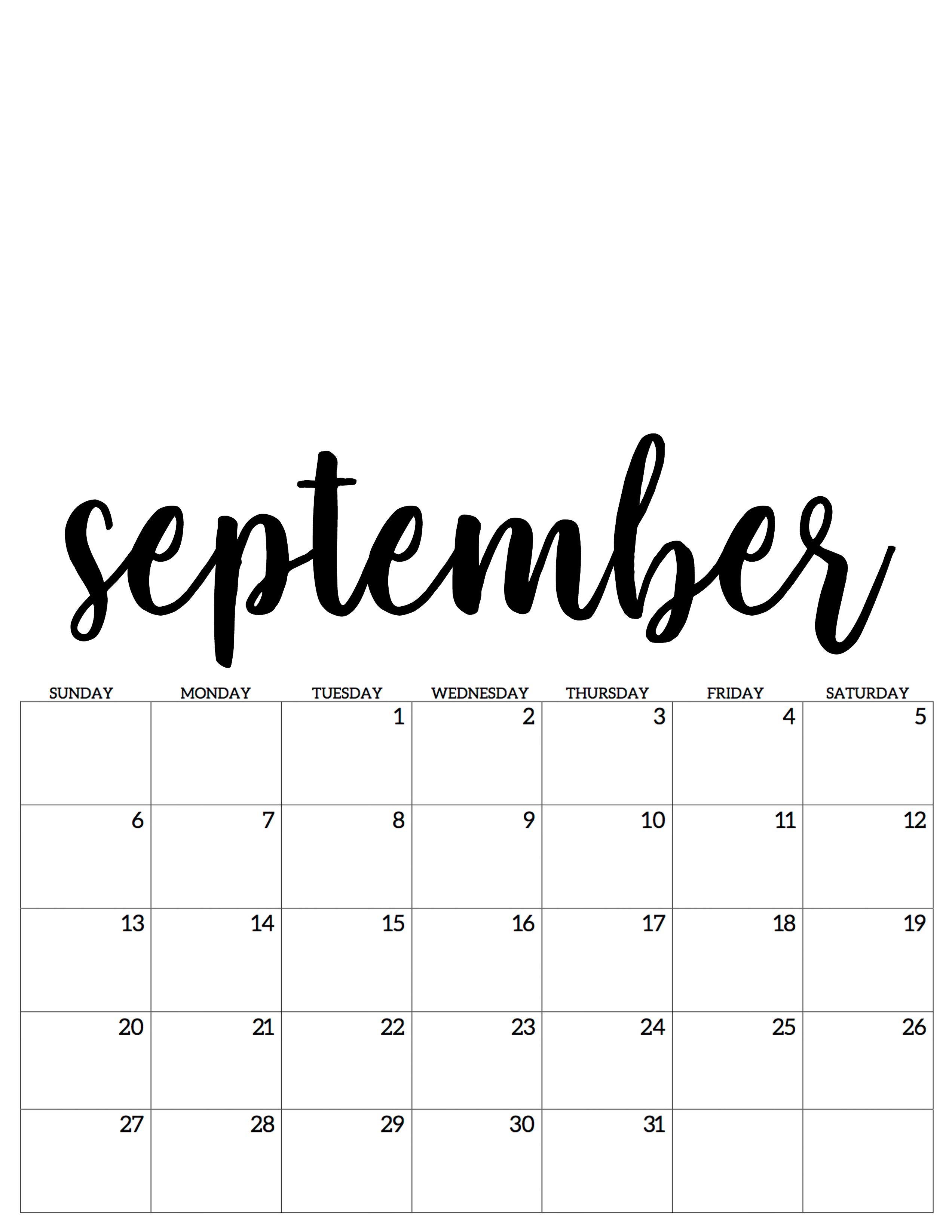 September Kalender Calendar 2019 September Kalender Kalender