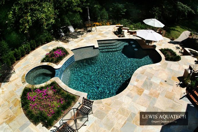 Bath Into 45 Amazing Swimming Pools That Can Beautify Your Outdoor Space Swimming Pools