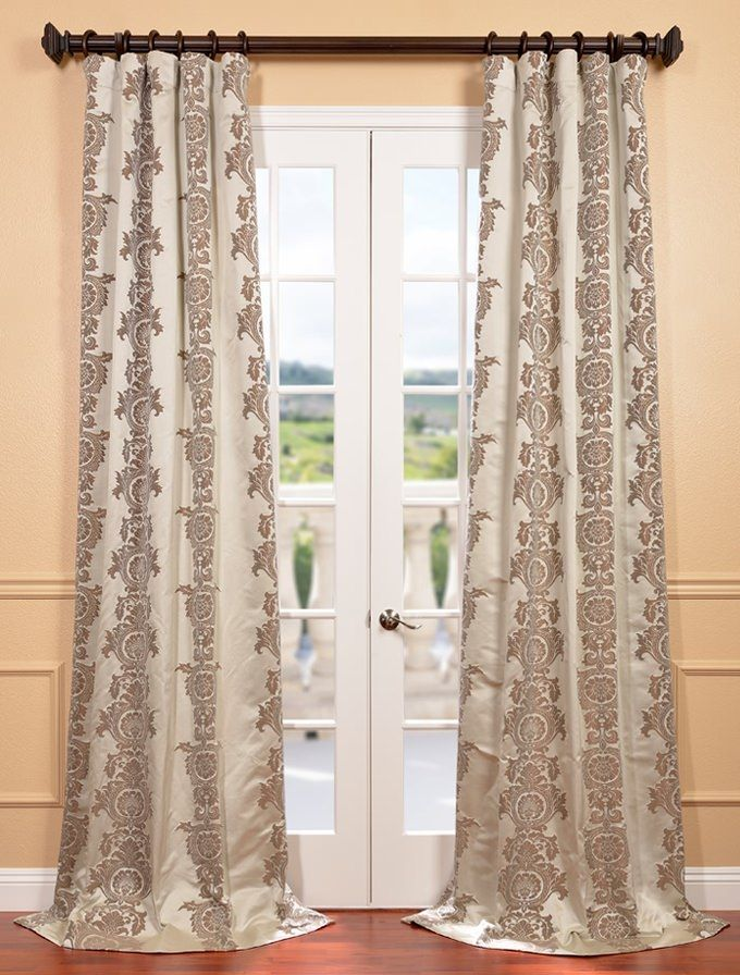 Pin By Mary Witham On My Bedroom Faux Silk Curtains Curtains