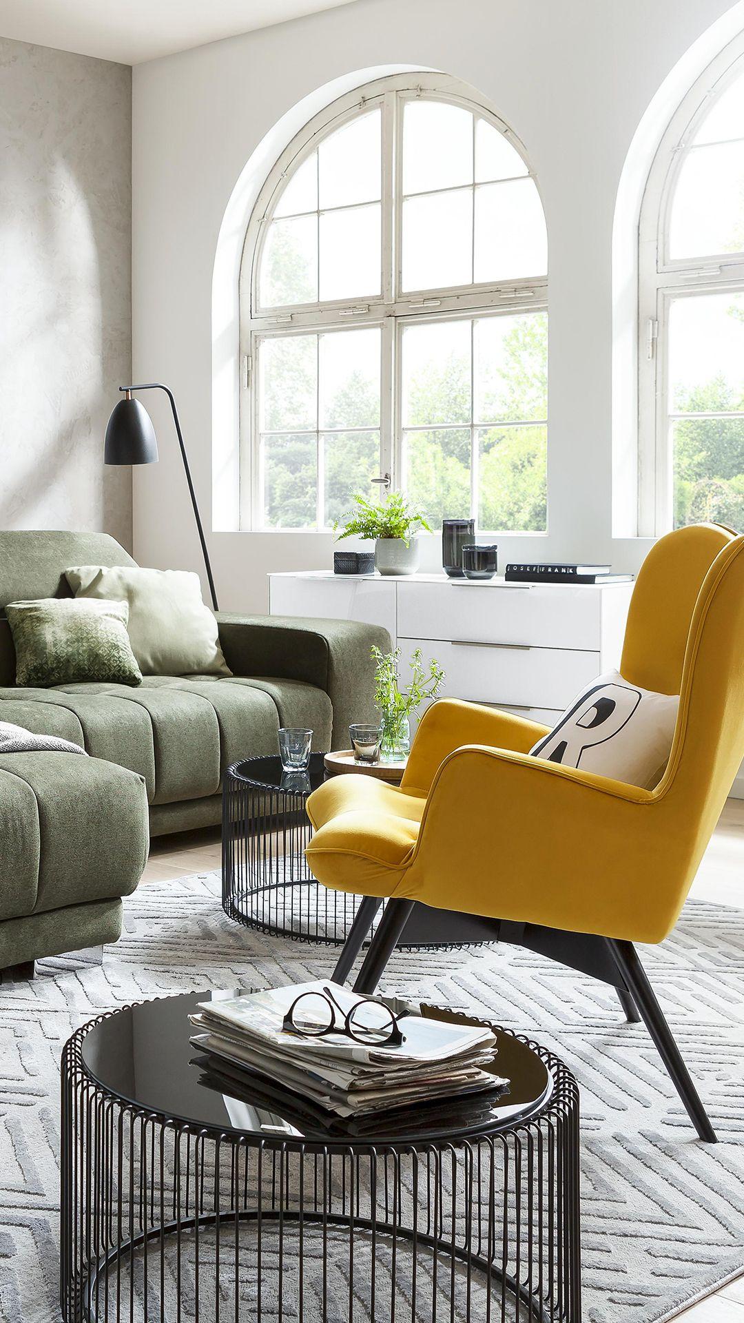 Sessel in Senfgelb  Modernes Wohnen in 5  Wohnzimmer design