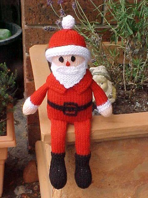 Free Santa Doll Knitting Pattern Natal Pinterest Santa Doll
