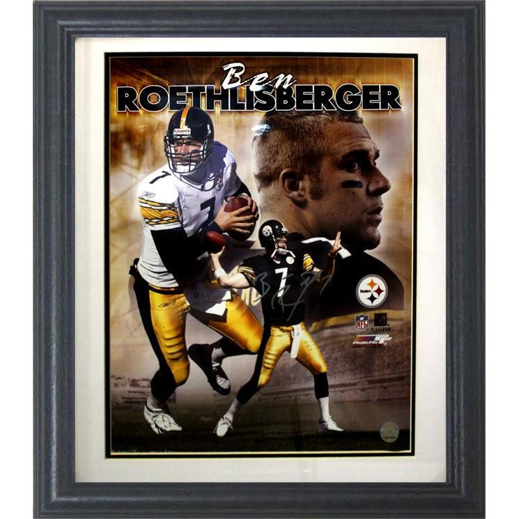 Encore Select Pittsburgh Steelers Ben Roethlisberger Framed Autographed Photo