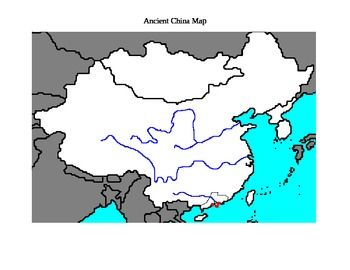 labeled map of ancient china Ancient China Map With Labeling Coloring Directions Ancient labeled map of ancient china