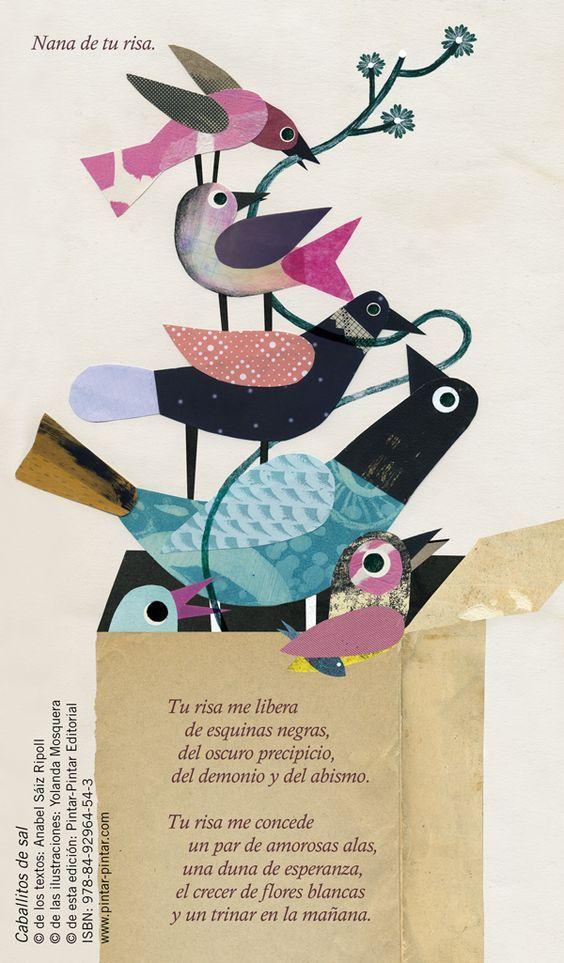 """""""Nana de tu risa"""". """"Caballitos de sal"""" Texto: Anabel Sáiz Ripoll Ilustraciones: Yolanda Mosquera ISBN: 978-84-92964-54-3:"""