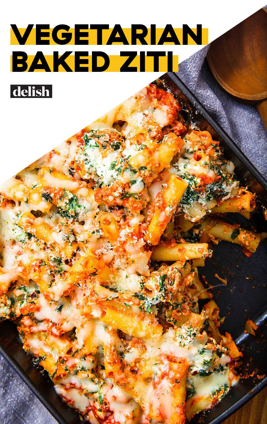 Treat Yourself To This Super Comforting Vegetarian Baked Ziti