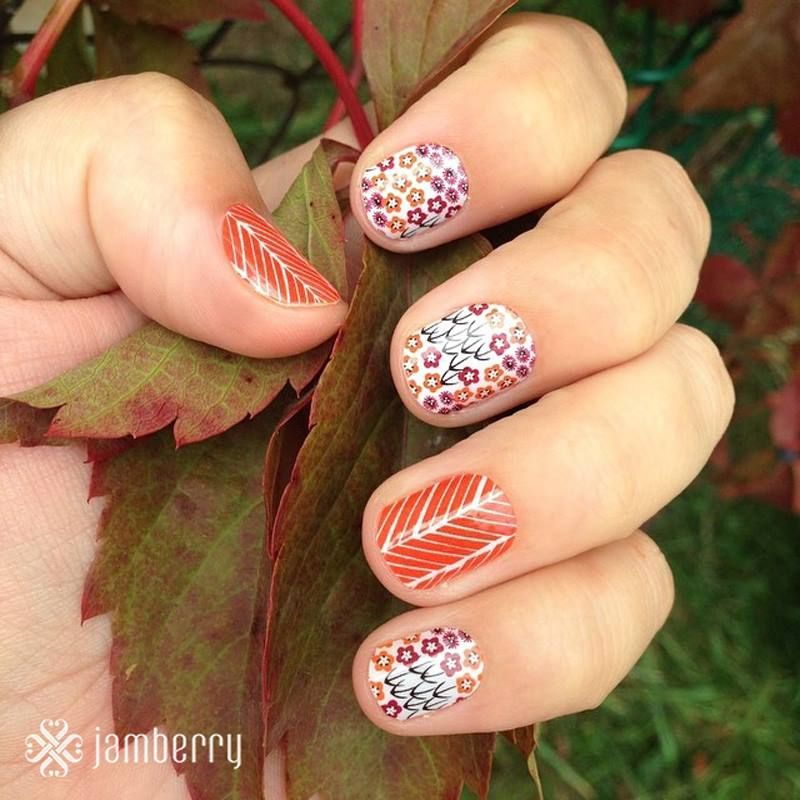 Fun Fall Manicure - Jamberry Nails Shop here: http ...