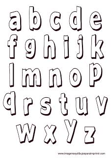 Letras en minusculas para ni os abecedarios pinterest - Letras decorativas para ninos ...