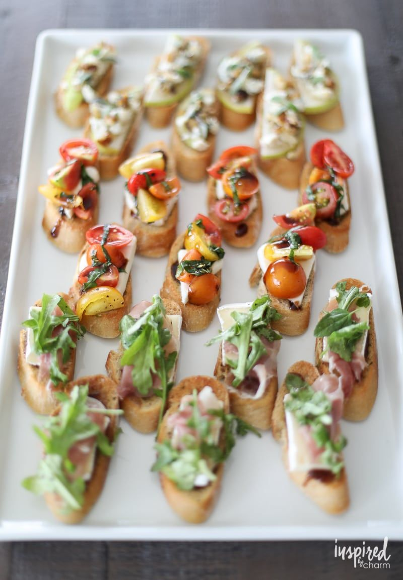 Trio of Farm-to-Table Inspired Crostini