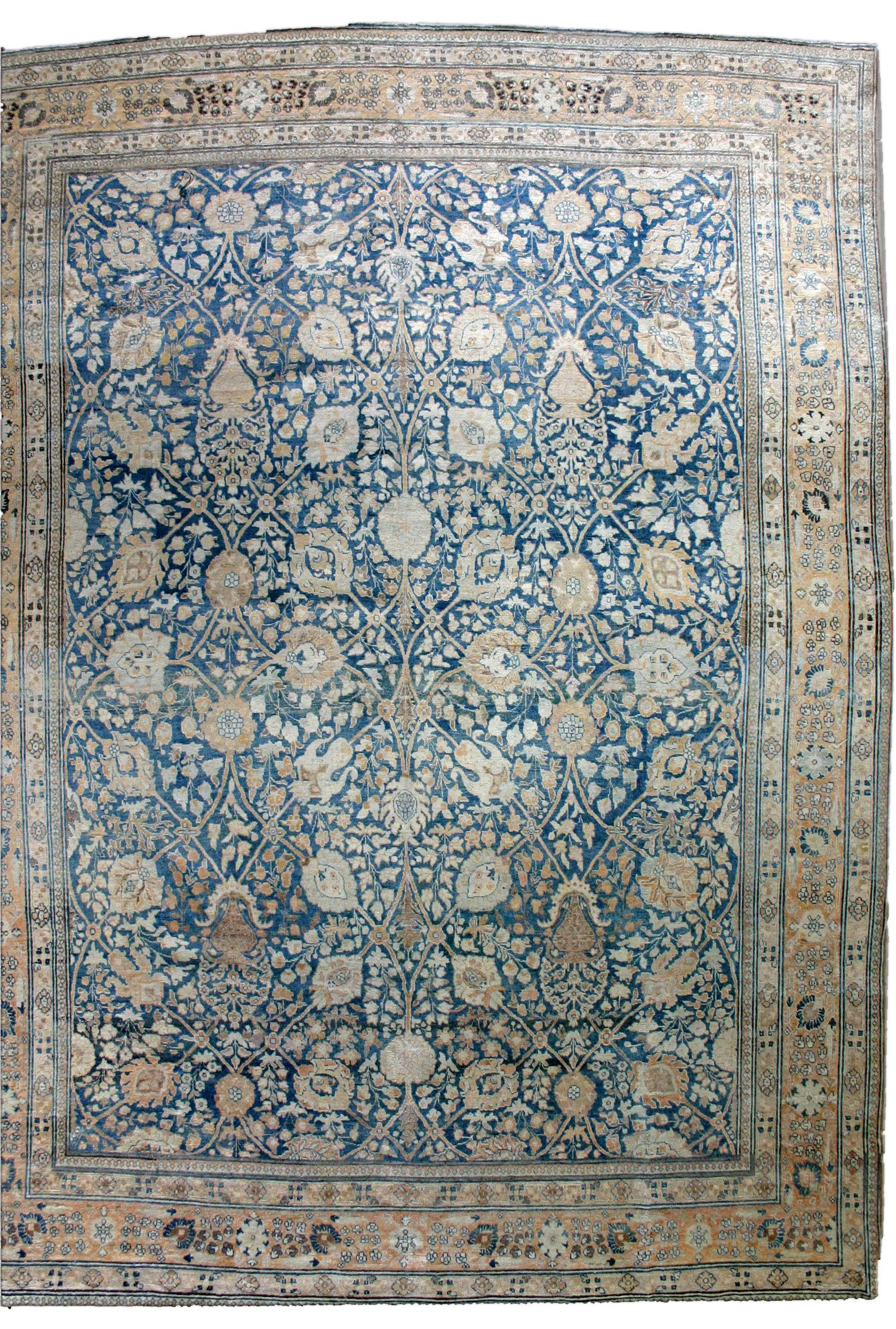 Blue Antique Persian Rug Move Your Mouse Over Image Or