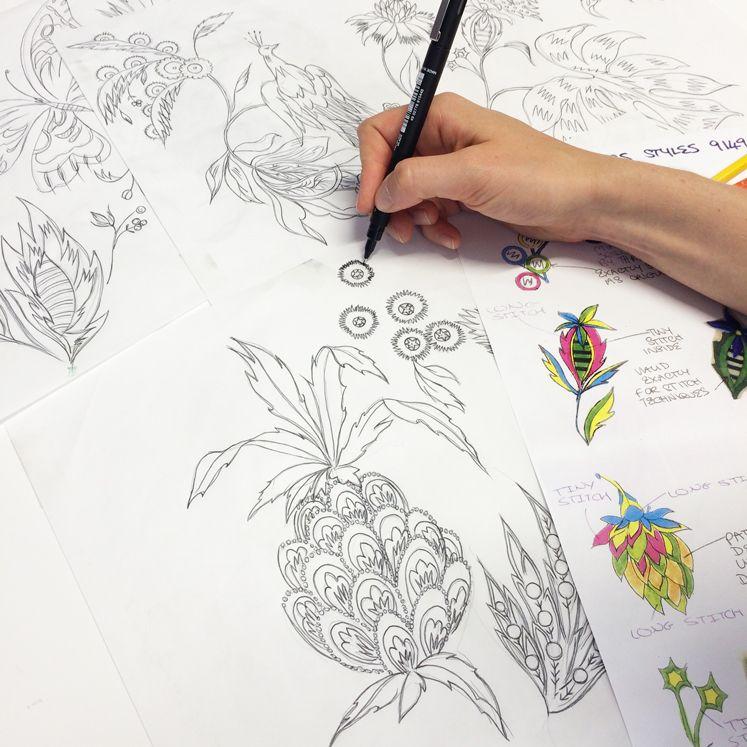 Matthew Williamson Pre Fall 2015 Prints In The Studio Pineapple Print Paisley Print Patterns