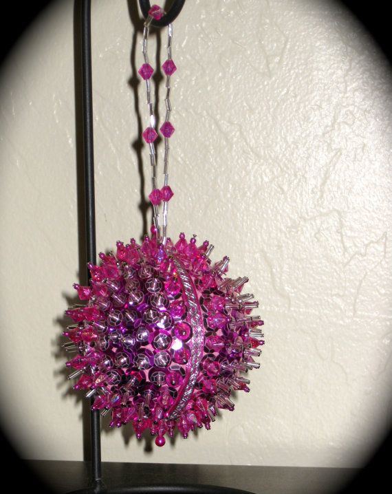 Baby Girl's First Christmas Beaded Ornament by theTinselTree, $12.00