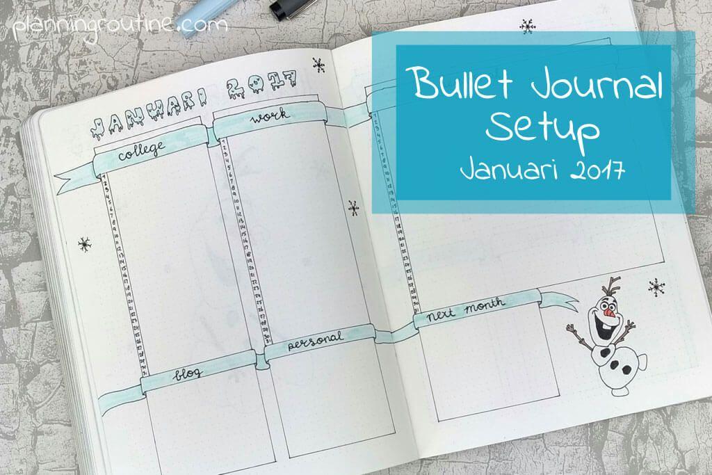 Bullet Journal January Setup 2017