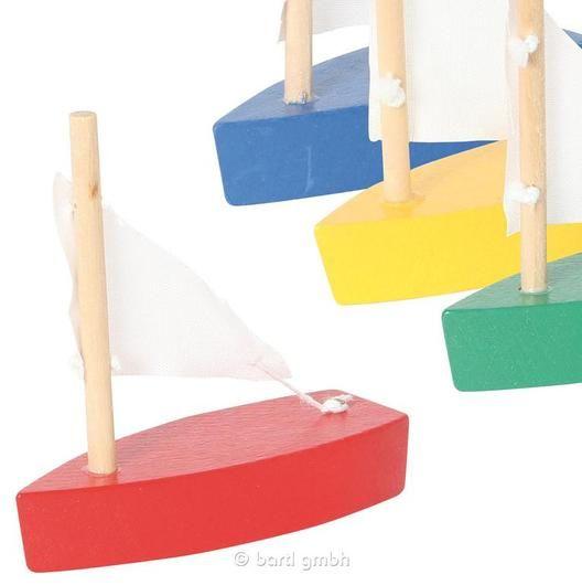 Bartl, Mini-Segelboot verschiedene Farben - Kleines Holzboot mit ...