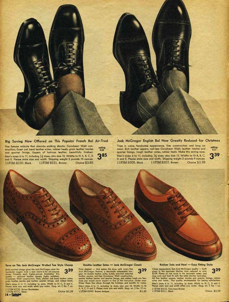 mens shoes 1940 Google Search | Vintage herrenmode, Kleid