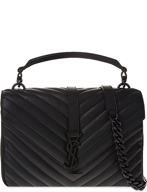 0414d8908963f SAINT LAURENT Monogram Collège small quilted leather satchel