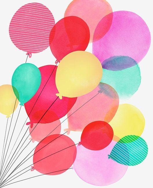Margaret Berg Art: Birthday Balloons Bunch