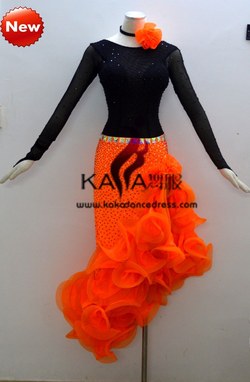 3555f17ed9dfe KAKA-L1308,Women Latin Dance Wear,Girls Salsa Practice Dance Dress Tango Samba  Rumba Chacha Dance Dress,Latin Dance Dres