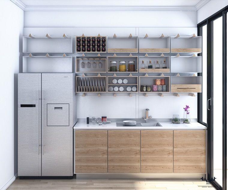 Estantes Abiertos Para Cocina Ideas De Almacenamiento Modernas Y Funcionales Estantes De Cocina Abiertos Estanterias De Cocinas Abiertas Muebles De Comedor Modernos