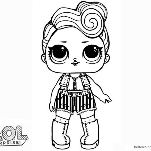 Lol Surprise Doll Coloring Pages Funky Qt Animal Coloring Pages